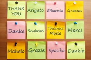 Thank you in 12 languages