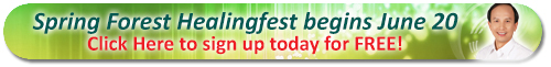Spring Forest Healing Fest Banner Small