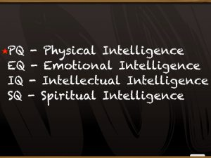 4 Intelligences